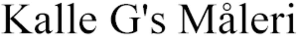 Kalle G's Måleri logo
