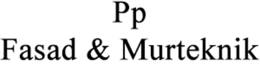 Pp Fasad & Murteknik I Motala/Vadstena AB logo