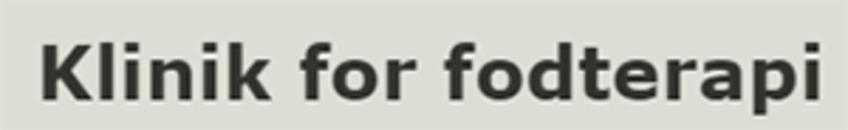 Klinik For Fodterapi v/ Anya Nielsen logo