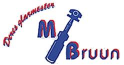 Glarmester M. Bruun logo