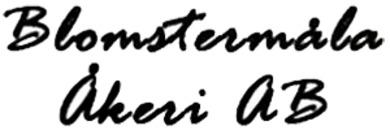 Blomstermåla Åkeri AB logo