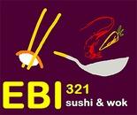 EBI 321 Sushi hot Wok logo