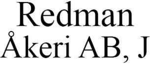 Redman Åkeri AB, J logo