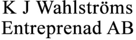 Wahlströms Entreprenad AB, K J logo