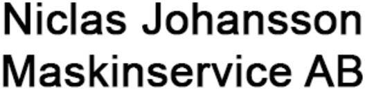 Niclas Johansson Maskinservice, AB logo