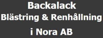 Backalack Blästring & Renhållning i Nora AB logo