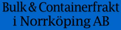 Bulk & Containerfrakt i Norrköping logo