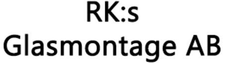 RK:s Glasmontage AB logo