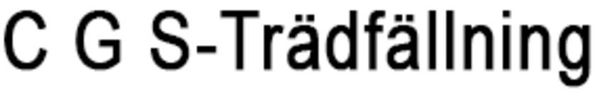 C G S-Trädfällning logo