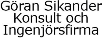 Göran Sikander Konsult och Ingenjörsfirma AB logo