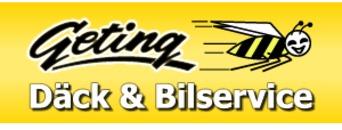 Geting Däck & Bilservice AB logo