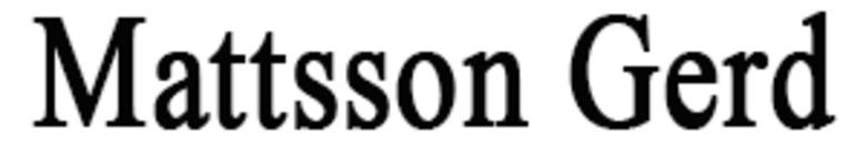 Mattsson Gerd logo