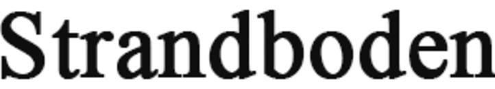 Strandboden logo