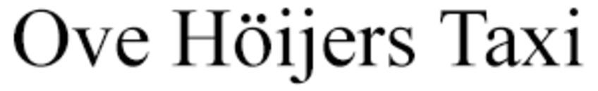 Ove Höijers Taxi logo