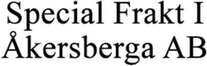 Special Frakt I Åkersberga AB logo