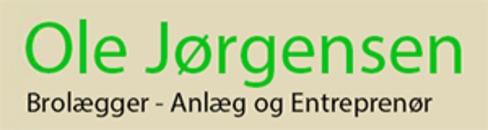 Ole Jørgensen anlæg & Brolæggerfirma logo