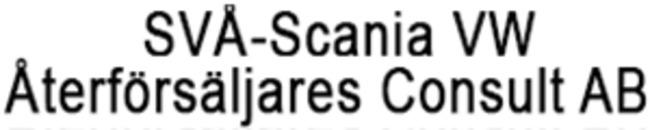 SVÅ-Scania VW Återförsäljares Consult AB logo