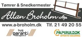Tømrermester Allan Broholm ApS logo