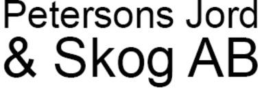 Petersons Jord & Skog AB logo