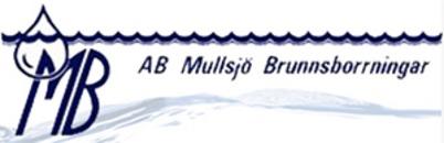 Mullsjö Brunnsborrningar, AB logo