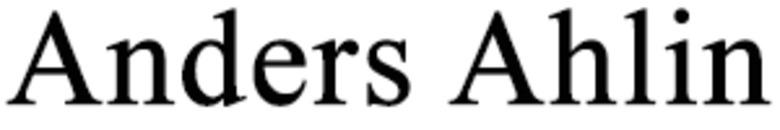 Ahlin Anders logo