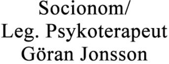 Socionom/Leg. Psykoterapeut Göran Jonsson logo