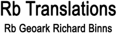 Rb Translations/Rb Geoark Richard Binns logo