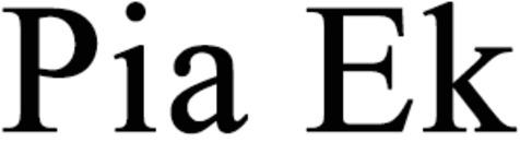 Ek, Pia logo