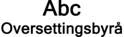 Abc Oversettingsbyrå Jacqueline Lie logo