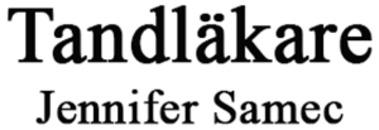 Tandläkare Jennifer Samec logo