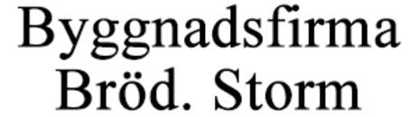 Byggnadsfirma Bröd. Storm logo