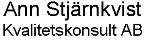 Ann Stjärnkvist Kvalitetskonsult AB logo