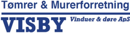 Visby Vinduer og Døre ApS Tømrer, Snedker og Mureforretning logo