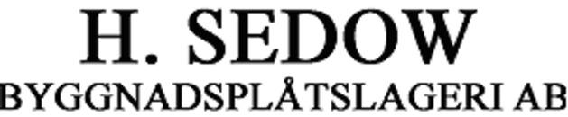 H. Sedow Byggnadsplåtslageri AB logo