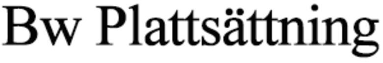 Bw Plattsättning logo