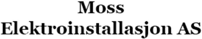 Moss Elektroinstallasjon AS logo