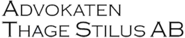 Advokaten Thage Stilus AB logo