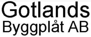 Gotlands Byggplåt AB logo
