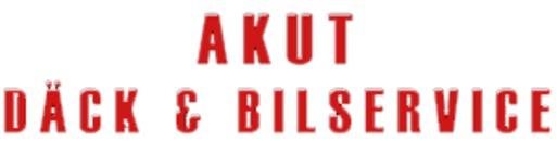 Akut däck & bil service logo