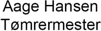 Aage Hansen Tømrermester logo