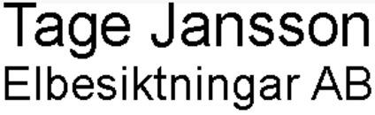 Tage Jansson Elbesiktningar, AB logo