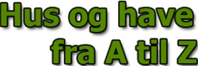 Hus og Have fra A til Z logo