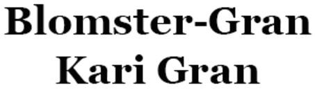 Blomster-Gran Kari Gran logo
