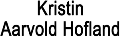 Tannlege Kristin Aarvold Hofland logo