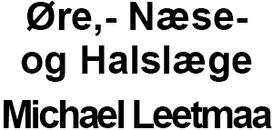 Øre,- Næse- og Halslæge Michael Leetmaa logo