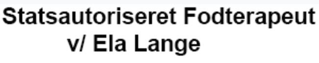 Statsautoriseret Fodterapeut v/ Ela Lange logo