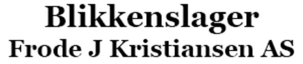 Blikkenslager Frode J Kristiansen AS logo