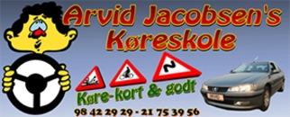 Arvid Jacobsen's Køreskole logo