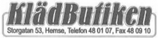 Klädbutiken logo