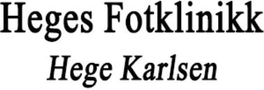 Heges Fotklinikk Hege Karlsen logo
